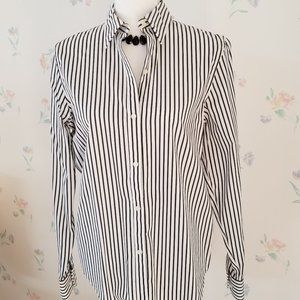 Medium Chaps Black/White Stripe Blouse